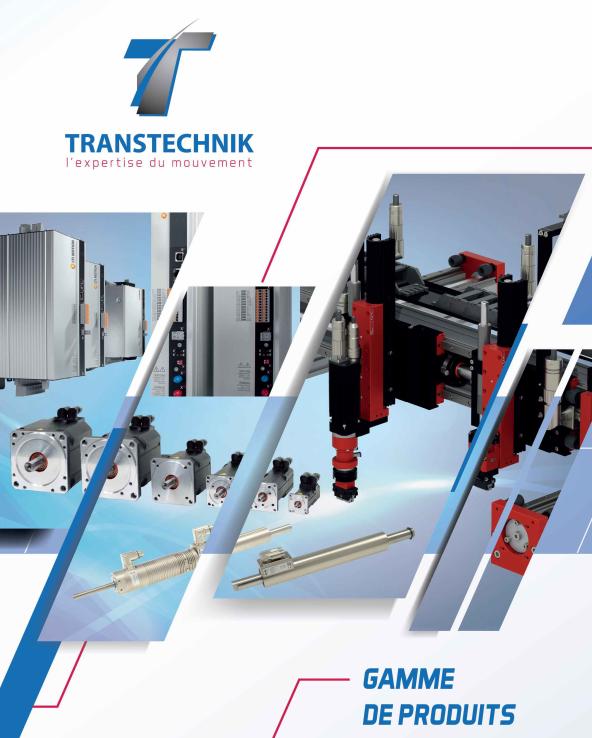 catalogue de des produits Transtechnik